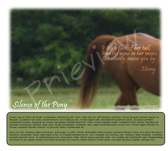Silence of the Pony